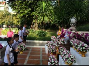 รร.สาธิต ร่วมน้อมรำลึกวันคล้ายวันพระราชสมภพสมเด็จพระนางเจ้าสุนันทากุมารีรัตน์