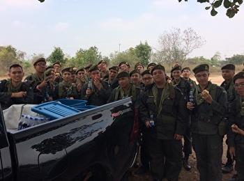 นักศึกษาวิชาทหาร ปีที่ 2 และ 3 โรงเรียนสาธิตมหาวิทยาลัยราชภัฏสวนสุนันทา เข้ารับการฝึกภาคสนาม ณ เขาชนไก่